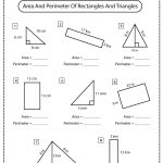 Area and Perimeter of Rectangles and Triangles Worksheet
