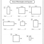 Area of Rectangles and Squares Worksheet