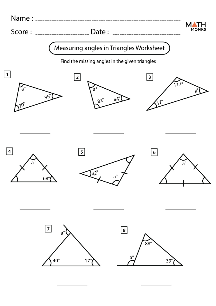 Area of a Triangle Worksheets - Math Monks Within Area Of Rhombus Worksheet