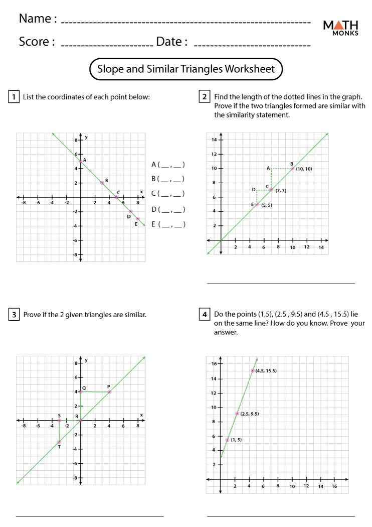 Similar Triangles Worksheets   Math Monks